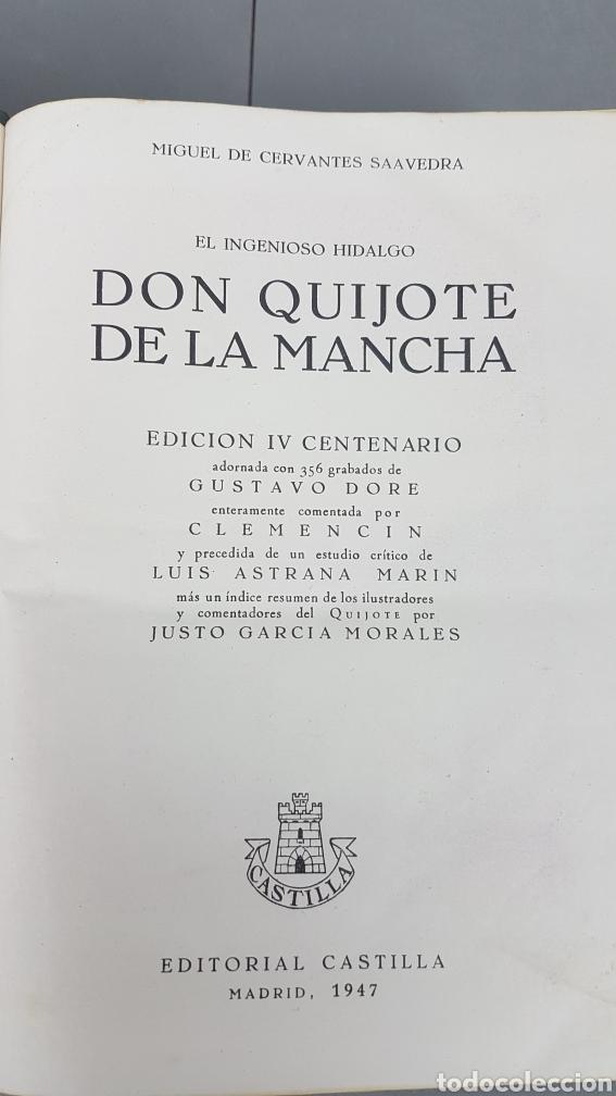 Libros de segunda mano: Libro de Don quijote de la Mancha. EdicionesCastilla,Madrid. Año 1947 - Foto 7 - 232797905