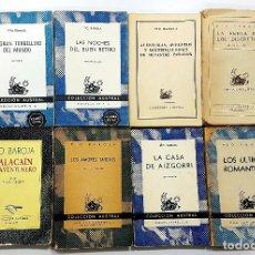Libros de segunda mano: PIO BAROJA- LOTE 8 LIBROS: ZALACAIN,PARADOX,RETIRO, AIZGORRI,ROMANTICOS,FERIA,AMORES,TORBELLINO. Lote 233470415