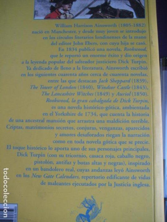 Libros de segunda mano: ROOKWOOD - DICK TURPIN - HARRISON AINSWORTH - VALDEMAR 2008 - AVENTURAS CLASICAS - SIN USO - Foto 3 - 235435180