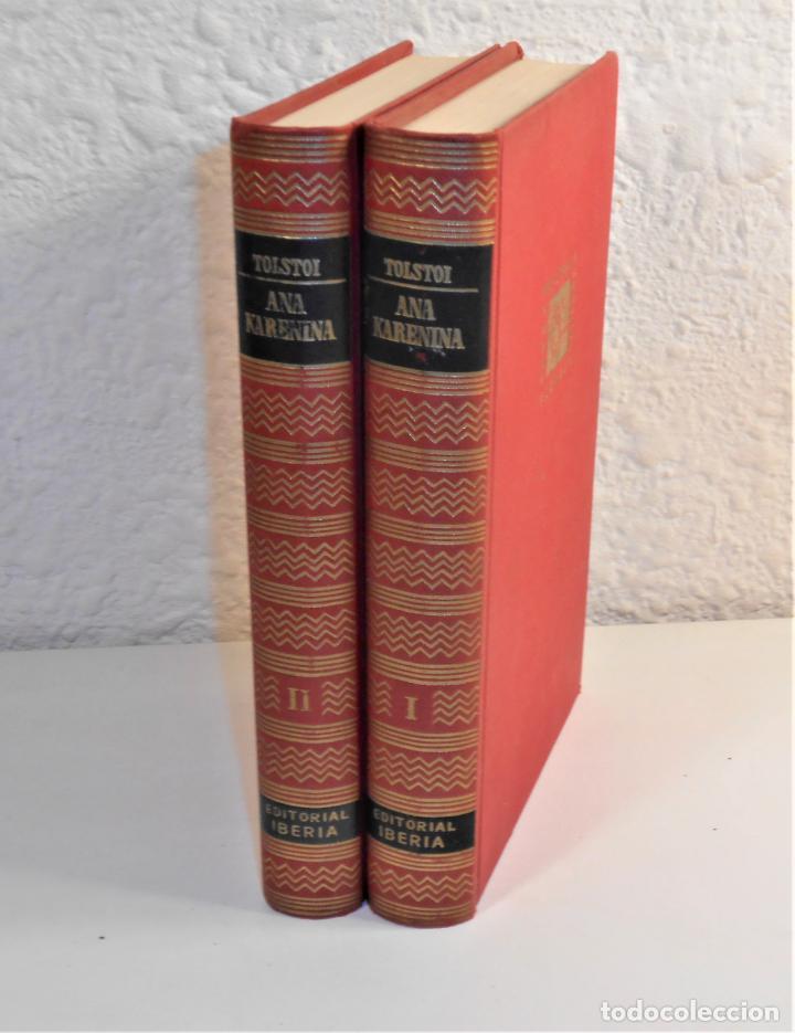 TOLSTOI , ANA KARENINA /2 T. , OBRA COMPLETA, TRADUCE ALEXIS MARCOFF - IBERIA, 1960 1ª EDICIÓN (Libros de Segunda Mano (posteriores a 1936) - Literatura - Narrativa - Clásicos)