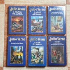 Libros de segunda mano: LOTE LIBROS JULIO VERNE N° 16 19 33 45 80 91 - ORBIS 1986 - NUEVO PRECINTADO SIN USAR. Lote 236209025