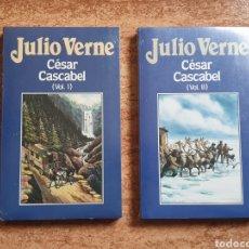Libros de segunda mano: CÉSAR CASCABEL JULIO VERNE Nº 73 Y 74 - ORBIS 1986 - NUEVO PRECINTADO SIN USAR. Lote 236212555