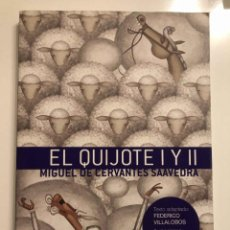 Libros de segunda mano: EL QUIJOTE I Y II MICUEL DE CERVANTES.TEXTO ADAPTADO FEDERICO VILLALOBOS. Lote 237016245