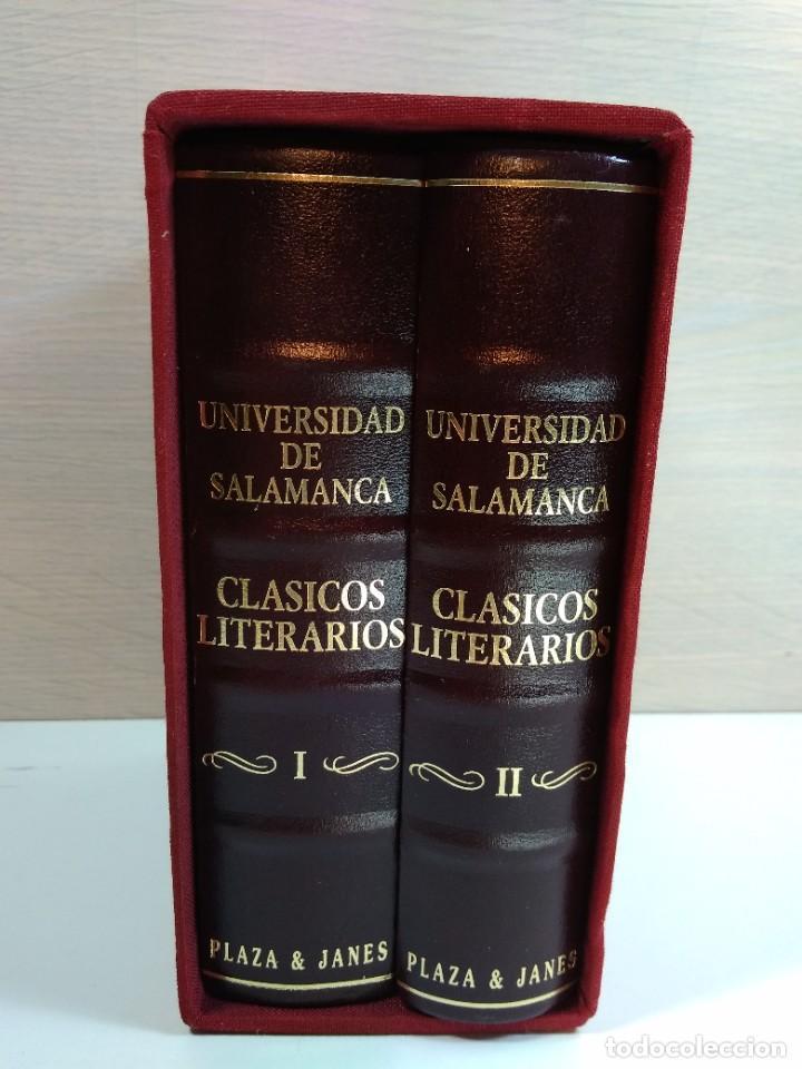 CLÁSICOS LITERARIOS DE LA UNIVERSIDAD DE SALAMANCA. VOLS I-II. EN SU ESTUCHE. AÑO 1995. IMPECABLES (Libros de Segunda Mano (posteriores a 1936) - Literatura - Narrativa - Clásicos)