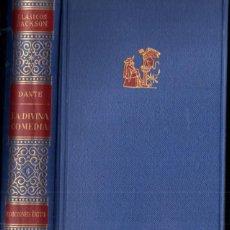 Libros de segunda mano: DANTE : LA DIVINA COMEDIA - PRÓLOGO DE BORGES - CLÁSICOS JACKSON, 1951. Lote 264558269