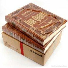 Libros de segunda mano: DON QUIJOTE EN 2 TOMOS ED. XXL LIMITADA Y NUMERADA LUJO. GRABADOS DORÉ PRECINTADOS Y CAJA ORIGINAL. Lote 237171510