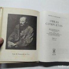 Libros de segunda mano: FIODOR M. DOSTOYEVSKI - OBRAS COMPLETAS - TOMO III - 10ª EDICIÓN 2ª REIMPRESIÓN - 1973 - AGUILAR. Lote 237850640