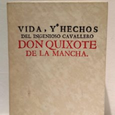 Libros de segunda mano: QUIJOTE - CERVANTES - 1730 - FACSIMIL. Lote 239954080