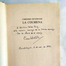 Libros de segunda mano: CELA: DEDICATORIA MANUSCRITA LA COLMENA. Lote 240024650
