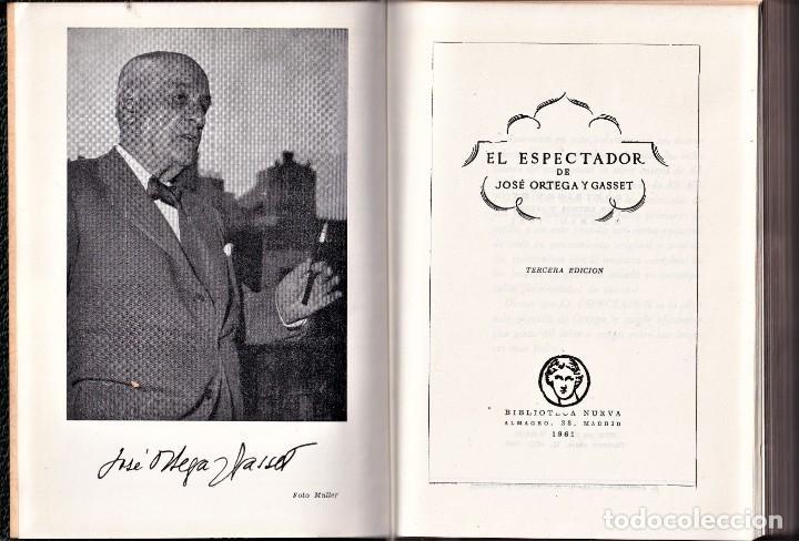 Libros de segunda mano: EL ESPECTADOR - ORTEGA Y GASSET - BIBLIOTECA NUEVA - 1961 - Foto 2 - 240411455