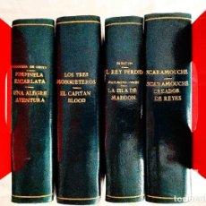 Libros de segunda mano: FAMOSAS NOVELAS - EDITORIAL MOLINO - CUATRO TOMOS ENCUADERNADOS EN MEDIA PIEL. Lote 240505765