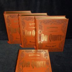 Libros de segunda mano: DON QUIJOTE DE LA MANCHA. M. CERVANTES. ILUSTRACIONES DE G. DORÉ. 4 TOMOS. AGUILAR, 1983. Lote 240617450