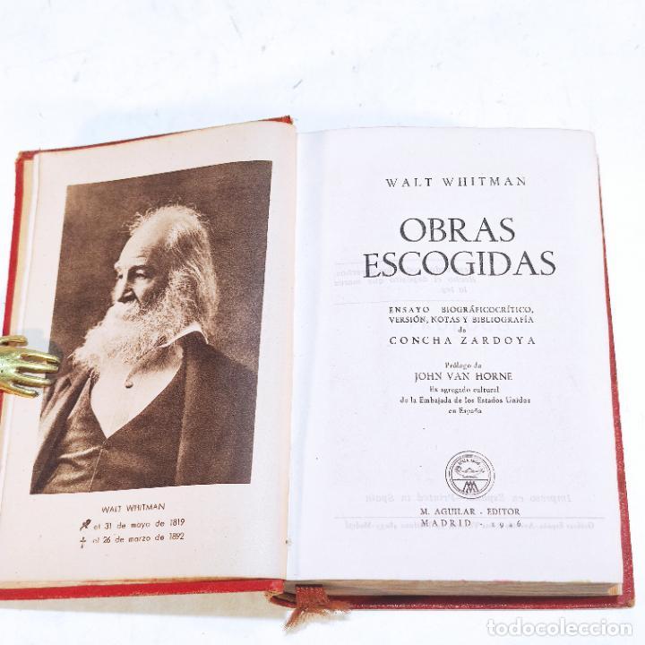 Libros de segunda mano: Obras escogidas. Walt Whitman. Aguilar. 1ª edición. 1946. - Foto 2 - 240900485