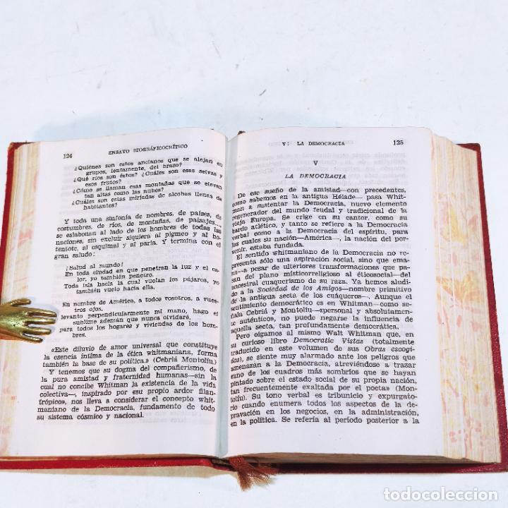 Libros de segunda mano: Obras escogidas. Walt Whitman. Aguilar. 1ª edición. 1946. - Foto 3 - 240900485