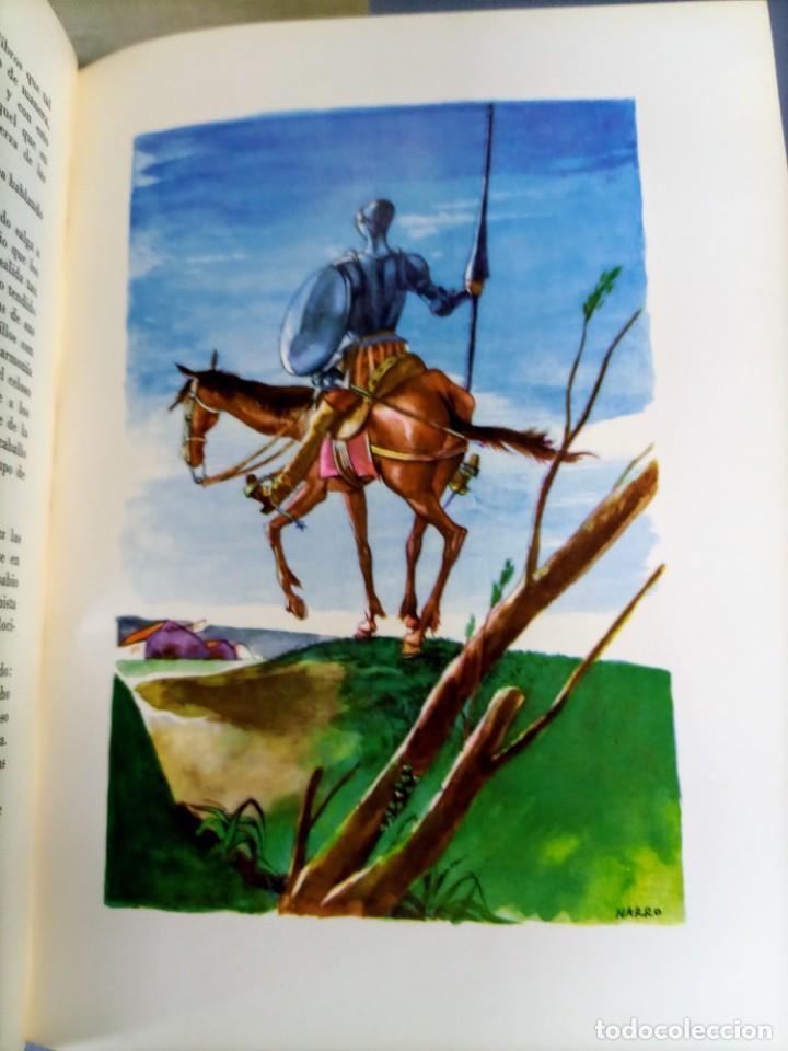 Libros de segunda mano: QUIJOTE - CERVANTES - JUVENTUD - 1958 - LITOGRAFIAS DE NARRO - COLECCIONISTAS - MARTIN DE RIQUER - Foto 2 - 240912005