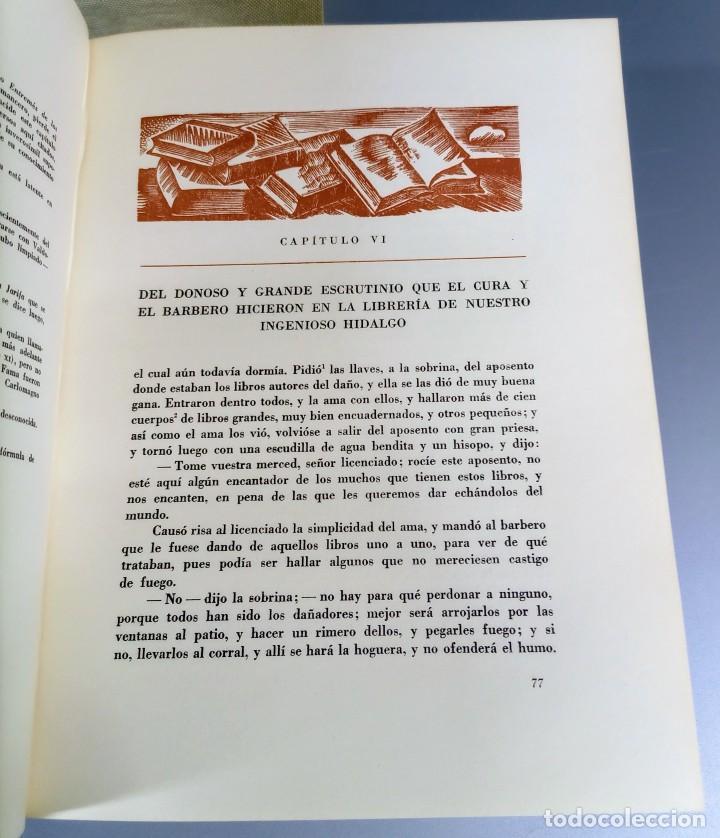Libros de segunda mano: QUIJOTE - CERVANTES - JUVENTUD - 1958 - LITOGRAFIAS DE NARRO - COLECCIONISTAS - MARTIN DE RIQUER - Foto 8 - 240912005