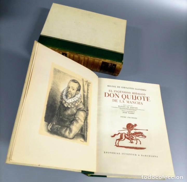 Libros de segunda mano: QUIJOTE - CERVANTES - JUVENTUD - 1958 - LITOGRAFIAS DE NARRO - COLECCIONISTAS - MARTIN DE RIQUER - Foto 15 - 240912005