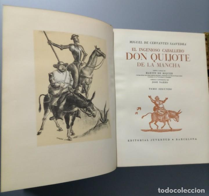 Libros de segunda mano: QUIJOTE - CERVANTES - JUVENTUD - 1958 - LITOGRAFIAS DE NARRO - COLECCIONISTAS - MARTIN DE RIQUER - Foto 22 - 240912005