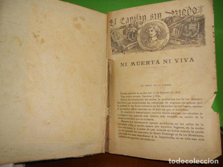 EL CAPITAN SIN MIEDO - 20 HISTORIAS - EN CUADERNO - ILUSTRADO EN NEGRO - TENGO + LIBROS (Libros de Segunda Mano (posteriores a 1936) - Literatura - Narrativa - Clásicos)