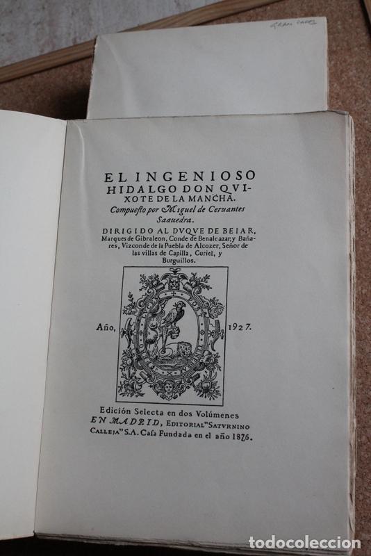 EL INGENIOSO HIDALGO DON QUIXOTE DE LA MANCHA COMPUESTO POR… CERVANTES SAAVEDRA (MIGUEL DE) (Libros de Segunda Mano (posteriores a 1936) - Literatura - Narrativa - Clásicos)