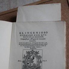 Libros de segunda mano: EL INGENIOSO HIDALGO DON QUIXOTE DE LA MANCHA COMPUESTO POR… CERVANTES SAAVEDRA (MIGUEL DE). Lote 242145905