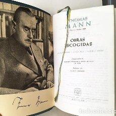 Libros de segunda mano: THOMAS MANN : OBRAS ESCOGIDAS (1. LOS BUDDENBROOK; ALTEZA REAL; SEÑOR Y PERRO) AGUILAR BNP. Lote 242322535