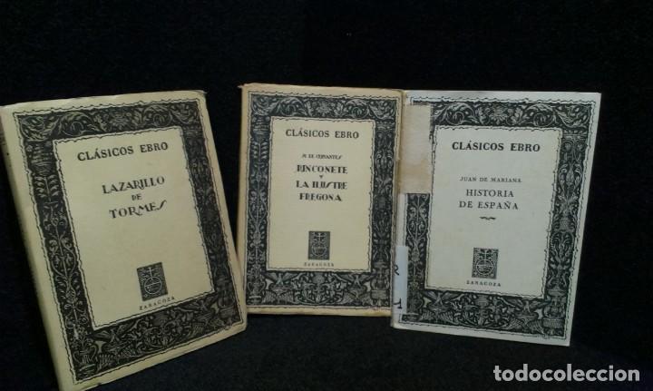 LOTE DE 3 LIBROS CLASICOS EBRO (Libros de Segunda Mano (posteriores a 1936) - Literatura - Narrativa - Clásicos)