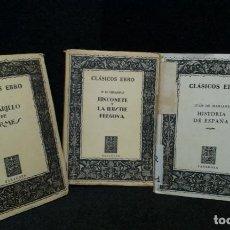 Libros de segunda mano: LOTE DE 3 LIBROS CLASICOS EBRO. Lote 243018185