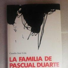 Libros de segunda mano: LA FAMILIA DE PASCUAL DUARTE. CAMILO JOSÉ CELA. ILUSTRACIONES DE ANTONIO SAURA.. Lote 243194610