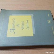 Libros de segunda mano: ANTOLOGIA DE TEXTOS LATINOS / LISARDO RUBIO DIONISIO OLLERO / EDICIONES CLASICAS / CONS 33. Lote 243632525