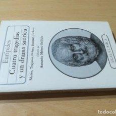Libros de segunda mano: CUATRO TRAGEDIAS Y UN DRAMA SATIRICO / EURIPIDES / AKAL CLASICA / ES158. Lote 243643505
