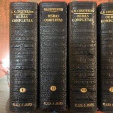 Libros de segunda mano: OBRAS COMPLETAS CHESTERTON-4 TOMOS.ED.PLAZA & JANES. Lote 243818285