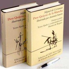 Libros de segunda mano: DON QUIJOTE ILUSTRADO POR ANTONIO SAURA. OBRA COMPLETA 2 TOMOS. 1ª ED. LUJO 1987. Lote 243863540