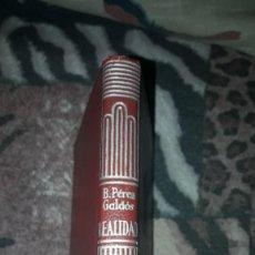 Libros de segunda mano: EDICION AGUILAR. COLECCION CRISOL 371 DE 1952. BENITO PÉREZ GALDO. REALIDAD.. Lote 244640705
