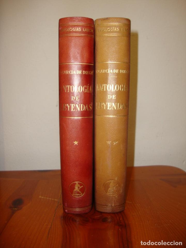 ANTOLOGÍA DE LEYENDAS - V. GARCÍA DE DIEGO - LABOR, PLENA PIEL, 1958 (Libros de Segunda Mano (posteriores a 1936) - Literatura - Narrativa - Clásicos)