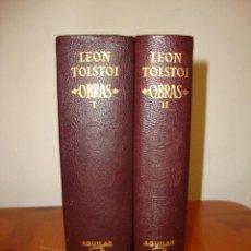 Libros de segunda mano: OBRAS - LEON TOLSTOI - AGUILAR, MUY BUEN ESTADO, 1969. Lote 244949475