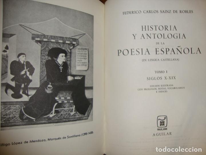 Libros de segunda mano: HISTORIA Y ANTOLOGÍA DE LA POESÍA ESPAÑOLA - SAINZ DE ROBLES - AGUILAR, 1967 - Foto 4 - 244950850