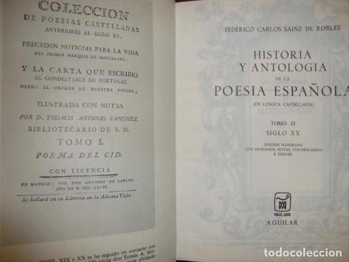 Libros de segunda mano: HISTORIA Y ANTOLOGÍA DE LA POESÍA ESPAÑOLA - SAINZ DE ROBLES - AGUILAR, 1967 - Foto 5 - 244950850