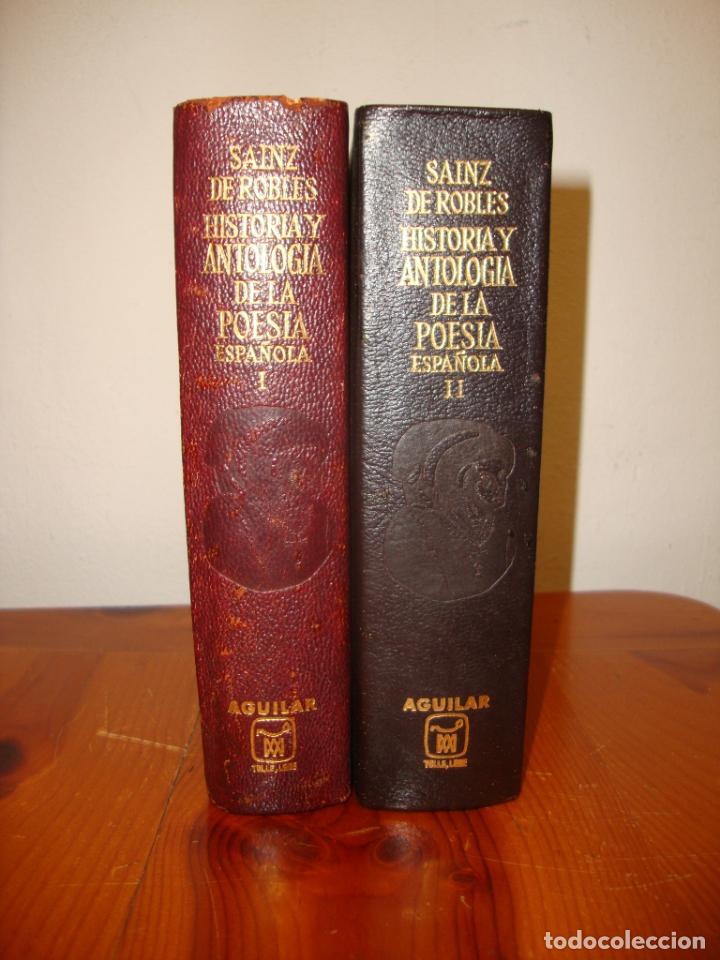 HISTORIA Y ANTOLOGÍA DE LA POESÍA ESPAÑOLA - SAINZ DE ROBLES - AGUILAR, 1967 (Libros de Segunda Mano (posteriores a 1936) - Literatura - Narrativa - Clásicos)