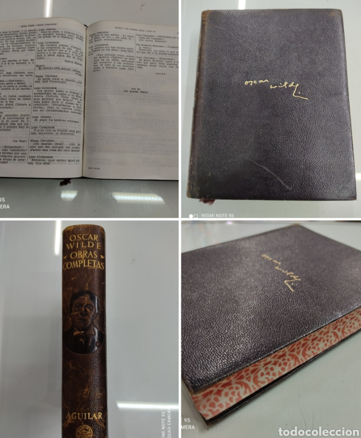 OSCAR WILDE OBRAS COMPLETAS AGUILAR EDICIONES 1951 PIEL CON CANTOS DECORADOS (Libros de Segunda Mano (posteriores a 1936) - Literatura - Narrativa - Clásicos)