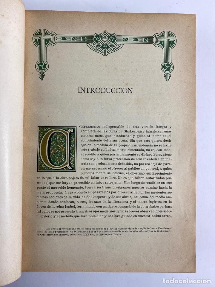 Libros de segunda mano: L-5915.OBRAS COMPLETAS DE SHAKESPEARE, TRADUCIDAS Y ANOTADAS POR CIPRIANO MONTOLIU.TOMO I,TRAGEDIAS. - Foto 6 - 245232530