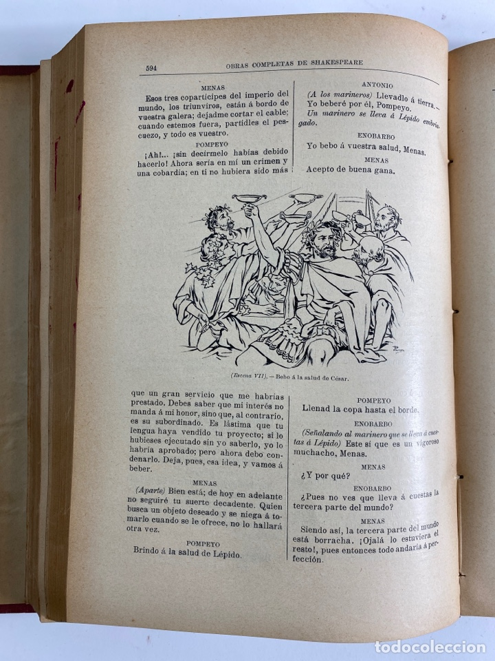 Libros de segunda mano: L-5915.OBRAS COMPLETAS DE SHAKESPEARE, TRADUCIDAS Y ANOTADAS POR CIPRIANO MONTOLIU.TOMO I,TRAGEDIAS. - Foto 10 - 245232530