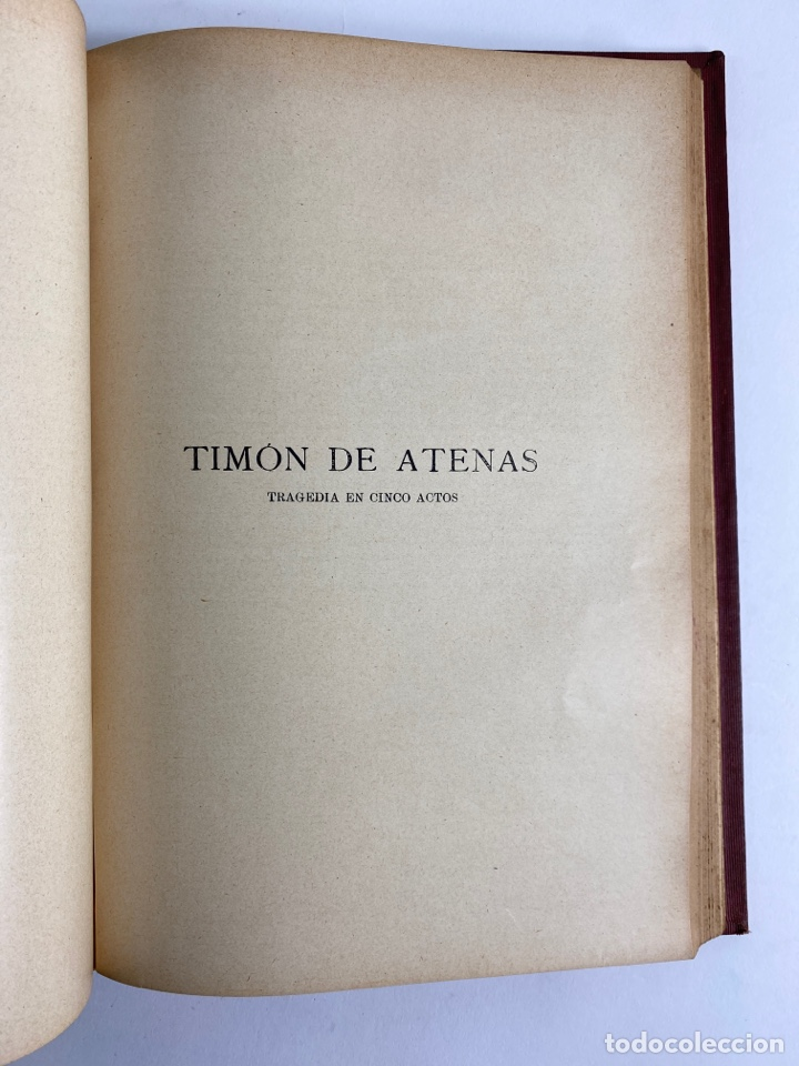 Libros de segunda mano: L-5915.OBRAS COMPLETAS DE SHAKESPEARE, TRADUCIDAS Y ANOTADAS POR CIPRIANO MONTOLIU.TOMO I,TRAGEDIAS. - Foto 11 - 245232530