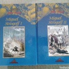 Libros de segunda mano: MIGUEL STROGOFF. 2 VOLS / JULIO VERNE. LOS VIAJES EXTRAORDINARIOS. EDITORIAL RUEDA. Lote 245436890