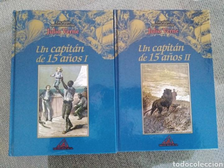 UN CAPITÁN DE 15 AÑOS. 2 VOLS / JULIO VERNE. LOS VIAJES EXTRAORDINARIOS. EDITORIAL RUEDA (Libros de Segunda Mano (posteriores a 1936) - Literatura - Narrativa - Clásicos)