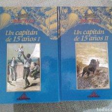 Libros de segunda mano: UN CAPITÁN DE 15 AÑOS. 2 VOLS / JULIO VERNE. LOS VIAJES EXTRAORDINARIOS. EDITORIAL RUEDA. Lote 245437060