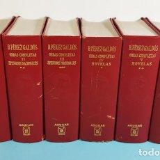 Libros de segunda mano: PEREZ GALDOS OBRAS COMPLETAS (SEIS 6 VOLUMENES): 3 EPISODIOS NACIONALES + 3 NOVELAS AGUILAR. Lote 245904915