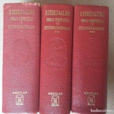 Libros de segunda mano: BENITO PÉREZ GALDOS OBRAS COMPLETAS EPISODIOS NACIONALES AGUILAR 1970. Lote 245953570