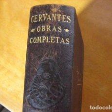 Libros de segunda mano: OBRAS COMPLETAS,MIGUEL DE CERVANTES,1943, AGUILAR ED, QUIJOTE Y MAS OBRAS. Lote 40554347