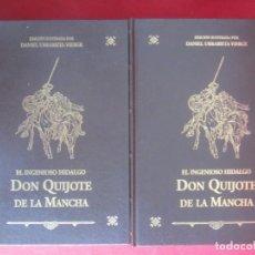Libros de segunda mano: EL INGENIOSO HIDALGO DON QUIJOTE DE LA MANCHA. ILUSTRADA POR JAVIER URRABIETA VIERGE. 2 TOMOS.. Lote 246316630
